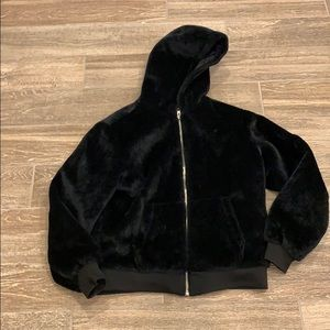 men's fuzzy jacket